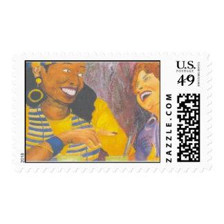 Girl Talk Postage Stamp