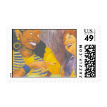 Girl Talk Postage Stamp