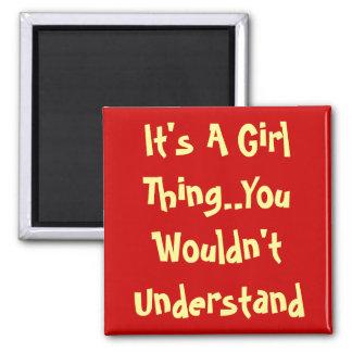 Girl Talk Refrigerator Magnet