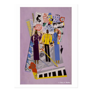 Girl-Talkin' After Five Collection Postcard