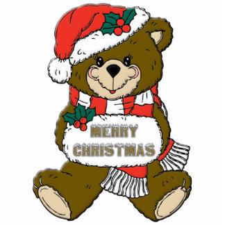Girl Teddy Bear Christmas Ornament Photo Sculpture Ornament