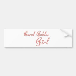 Girl tee shirts car bumper sticker