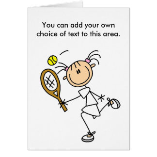 Girl Tennis Player Customizable Card