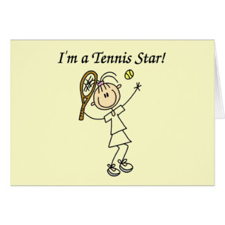 Girl Tennis Star T-shirts and Gifts Greeting Card