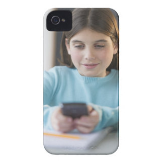Girl texting in classroom iPhone 4 cover