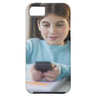 Girl texting in classroom iPhone SE/5/5s case