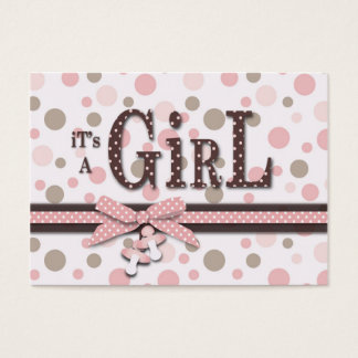 Girl Thank You Note Business Card