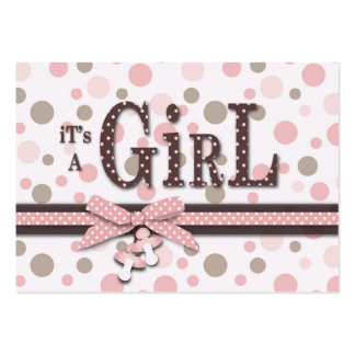 Girl Thank You Note Large Business Card