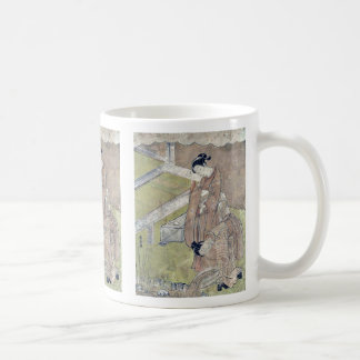 Girl throws a fish into a pond by Suzuki,Harushige Mug