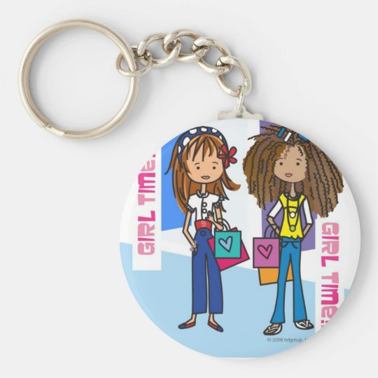 Girl Time Keychain