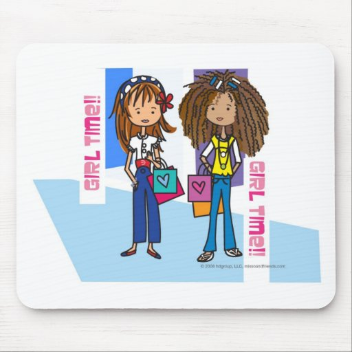 Girl Time Mouse Pad