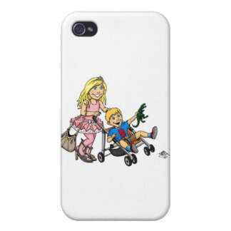 Girl to Mom iPhone 4 Cases