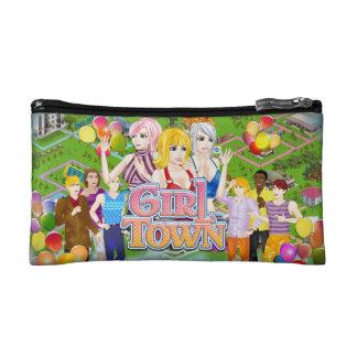 Girl Town Small Cosmetic Bag