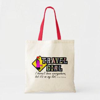 Girl travel tote bag