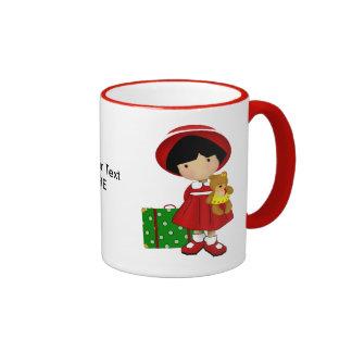 Girl Traveler Custom Mug