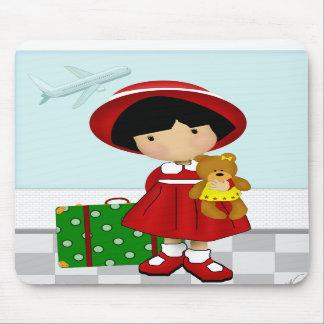 Girl Traveler Mouse Mat Mousepad