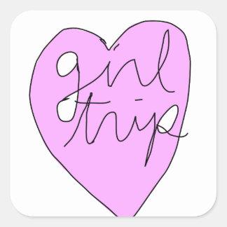 Girl Trip Apparel & Accessories Square Sticker