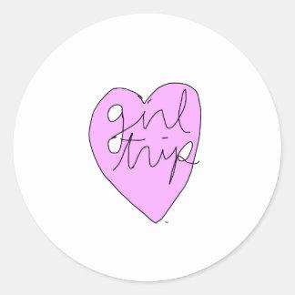 Girl Trip Apparel & Accessories Classic Round Sticker