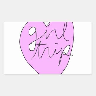 Girl Trip Apparel & Accessories Rectangular Sticker