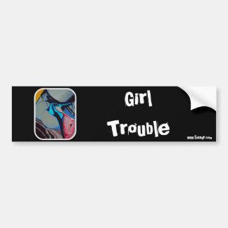 'Girl Trouble' Bumper Sticker