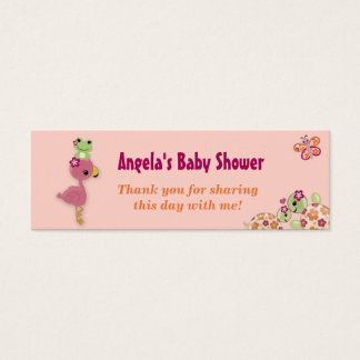 Girl TURTLE Baby Shower Favor Gift Tags OUP