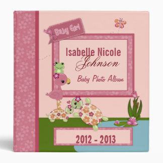Girl TURTLE Once Upon a Pond 1.5in Baby Album #2 Binder
