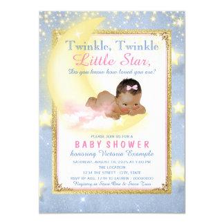 Girl Twinkle Twinkle Little Star Baby Shower Card
