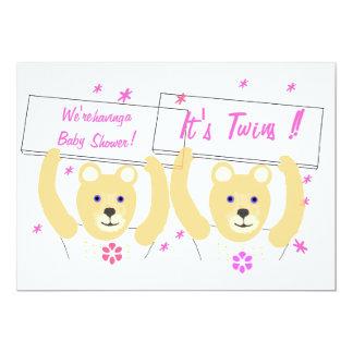 Girl Twins Baby Shower Invitation