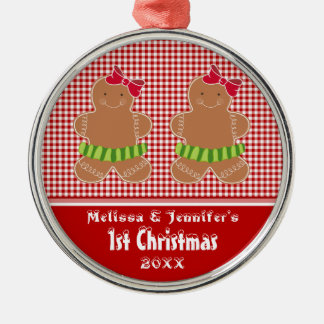 Girl Twins Baby's First Christmas Ornament