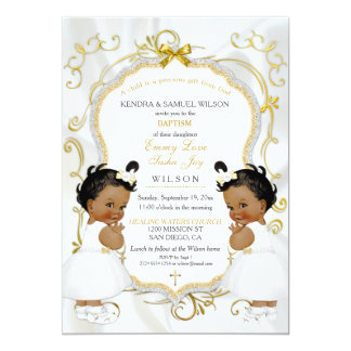 Twins Baptism Invitations Announcements Zazzle