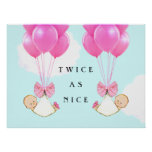 GIRL TWINS GIFT POSTER
