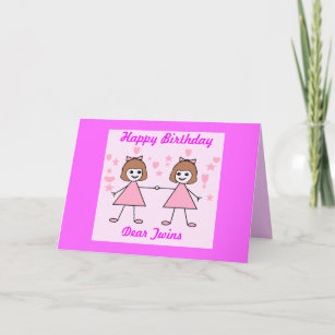 Twins Birthday Cards Greeting Photo Cards Zazzle