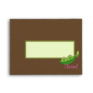 Girl Twins Peas in a Pod Envelope