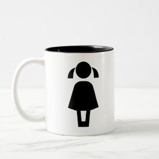 girl Two-Tone coffee mug