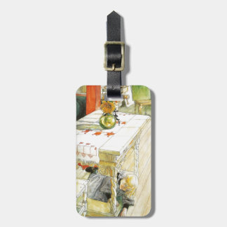 Girl Under a Kitchen Table Bag Tag