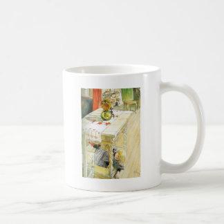 Girl Under a Kitchen Table Coffee Mug