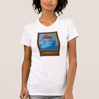 """Girl Under a Red Blue Sky"" (BROWN) by Zermeno T-Shirt"