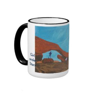 Girl under Stars-mug Ringer Mug