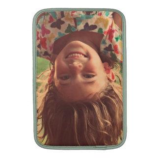 Girl Upside Down Smiling Child Kids Play MacBook Air Sleeve