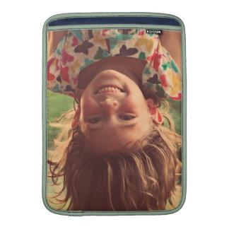 Girl Upside Down Smiling Child Kids Play MacBook Sleeves