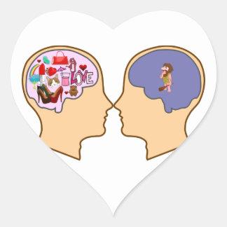 Girl V Guy funny design - Customisable Heart Sticker