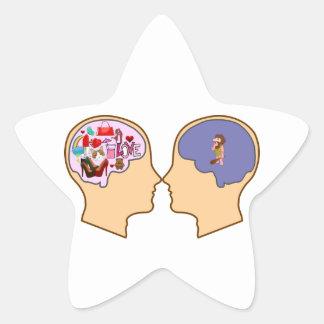 Girl V Guy funny design - Customisable Stickers