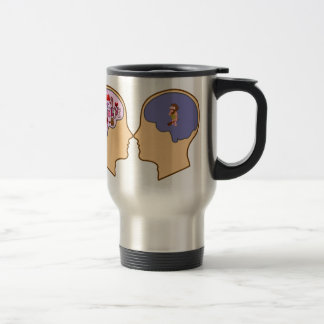 Girl V Guy funny design - Customisable Travel Mug