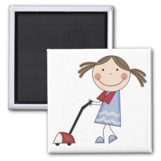Girl Vacuuming Tshirts and Gifts Magnets