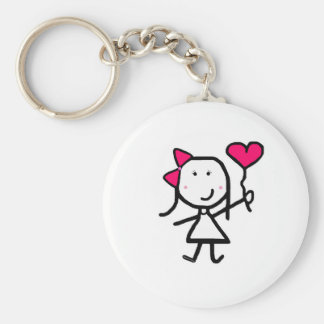 Girl & Valentine Key Chains