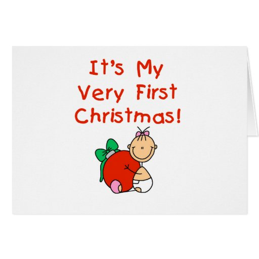 Girl Very First Christmas Tshirts and Gifts Cards