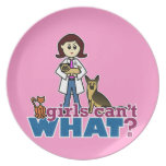 Girl Veterinarian Party Plates