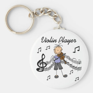 Girl Violin Player Tshirts and Gifts Keychain