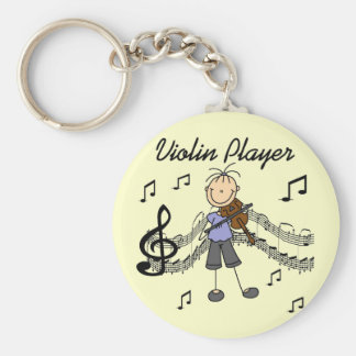 Girl Violin Player Tshirts and Gifts Basic Round Button Keychain