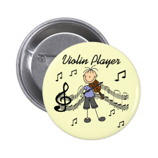 Girl Violin Player Tshirts and Gifts Pinback Button